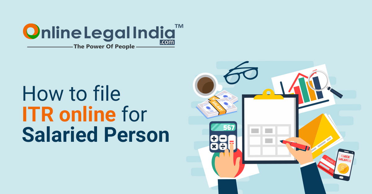 how to file ITR online for salaried persons