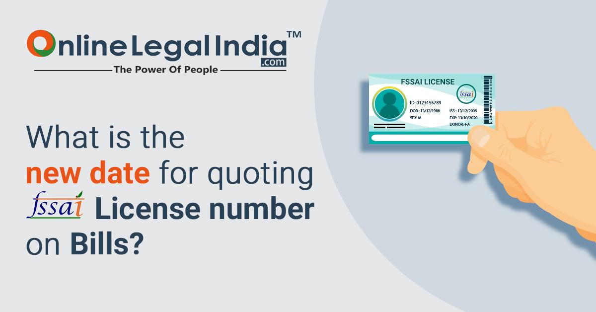 FSSAI license number on Bills