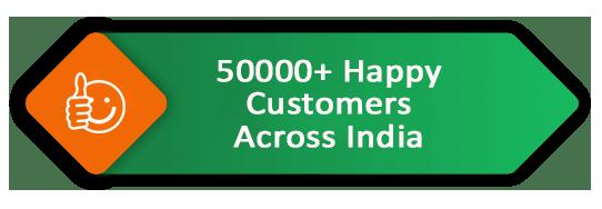10000+ happy customers across india